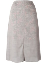 Julien David Slit Skirt Women Cotton Polyester Wool S Grey