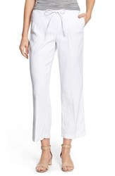 Nydj Petite Women's 'Jamie' Relaxed Ankle Flared Pants Optic White