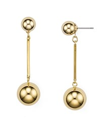 Kate Spade New York Double Ball Drop Earrings Gold