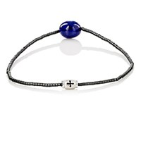 Luis Morais Men's Lapis Lazuli And Tube Bead Bracelet White