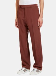 Gucci Vintage Wool Tailored Pants Burgundy