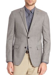 Theory Wellar Micro Houndstooth Wool Sportcoat Black Multi