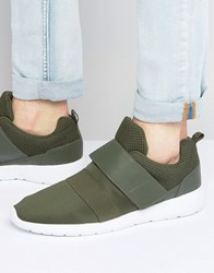 Brave Soul Strap Trainers Green