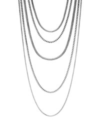John Hardy Sterling Silver Classic Chain Five Row Necklace 17