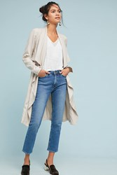 Cupcakes And Cashmere Angela Draped Trench Coat Beige