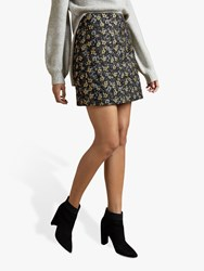 Ted Baker Rainie Floral Jacquard Mini Skirt Black Multi