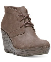 Dr. Scholl's Blaire Wedge Booties Women's Shoes Dark Brown