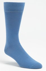 Men's Lorenzo Uomo Merino Wool Blend Socks Blue 3 For 30