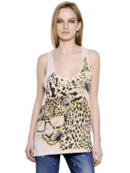 Stella Mccartney Printed Cotton Silk Jersey Tank Top