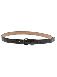 Sofie D'hoore Croc Embossed Belt Black