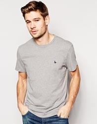 Jack Wills Sandleford T Shirt With Pheasant Logo Grey