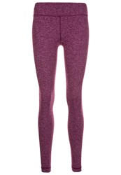 Under Armour Heatgear Shape Shifter Tights Beet Heather Silver Purple