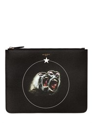 Givenchy Large Monkeys Faux Leather Pouch