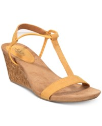 Styleandco. Style Co Mulan Wedge Sandals Created For Macy's Women's Shoes Yellow