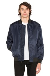 Stussy Flight Satin Bomber Navy