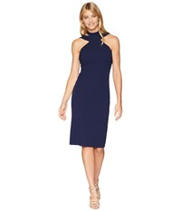 Bebe Bodycon Halter Dress Navy