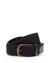 Ted Baker Lastand Colored Elastic Braided Belt Navy
