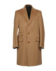 Faconnable Coats Camel