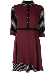 Loveless Contrast Short Dress Red