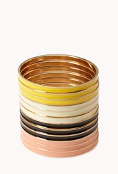 Forever 21 Multi Colored Lacquered Bangle Set