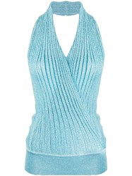 Missoni Wrap Front Ribbed Knit Top 60