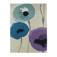 Sanderson Poppies Indigo Purple Rug 200X280cm