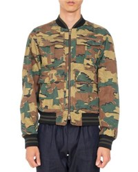 Dries Van Noten Varsy Reversible Bomber Jacket Khaki