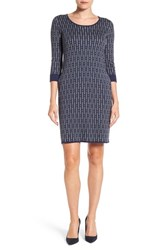 Foxcroft Women's Geo Print Sweater Dress
