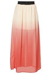 Fresh Made Maxi Skirt Pale Peach Orange