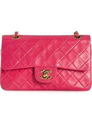 Chanel Vintage Small Double Flap Bag Pink And Purple