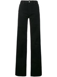 Calvin Klein 205W39nyc Wide Leg High Rise Jeans Cotton Black