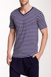 Bottoms Out Striped V Neck Tee Multi