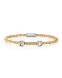 Alor Double Topaz Station Cable Bracelet 18Kt Yg