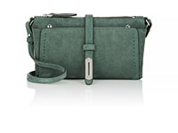 Fontana Milano 1915 Women's Mini A Suede Crossbody Bag Green