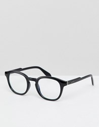 Quay Australia Walk On Square Clear Lens Glasses In Black