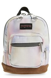 Jansport Right Pouch Mini Backpack Pink Sunkissed Pastel