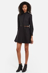 Alexander Wang Collared Shirt Dress With Waist Ties Black