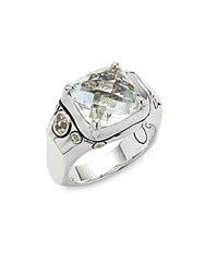 John Hardy Batu White Topaz And Sterling Silver Ring