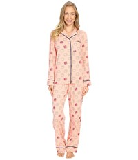 Life Is Good Rise Shine Sun Jersey Sleep Set Chalky Peach Women's Pajama Sets Pink