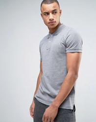Esprit Slim Fit Basic Pique Polo Shirt In Grey Melange Grey Melange