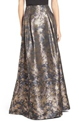 Eliza J Women's Metallic Floral High Waist Ball Skirt