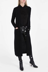 Theory Cashmere Maxi Cardigan Black