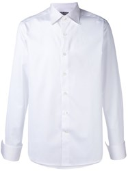 Canali Classic Long Sleeve Shirt Men Cotton 38 White