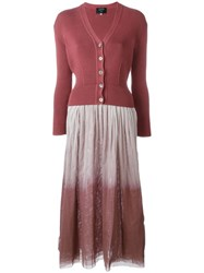 Jean Paul Gaultier Vintage Layered Dress Pink And Purple