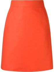 Andrea Marques High Waisted A Line Skirt Red