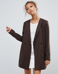 Selected Valina Wool Blend Double Breasted Blazer Java Brown