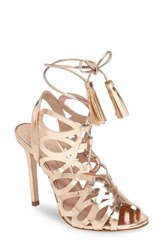 Charles By Charles David Women's Priscilla Cage Sandal Rose Gold Leather