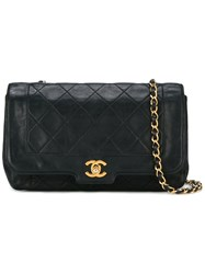 Chanel Vintage Quilted Flap Bag Blue