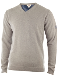 Cutter And Buck Lambswool V Neck Sweater Silver