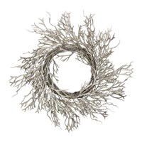 Gisela Graham Twig Wreath With Glitter Seaweed Branch Gold